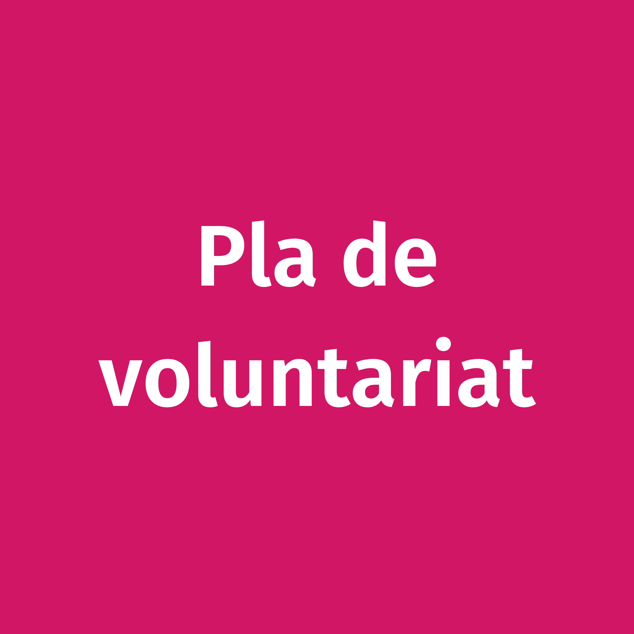 Pla de voluntariat